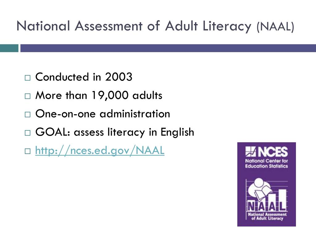 National Assessment of Adult Literacy