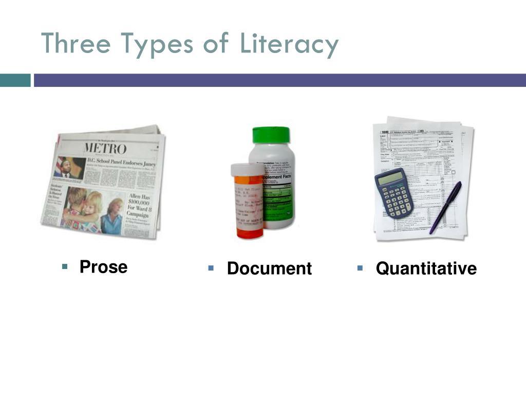 Three Types of Literacy