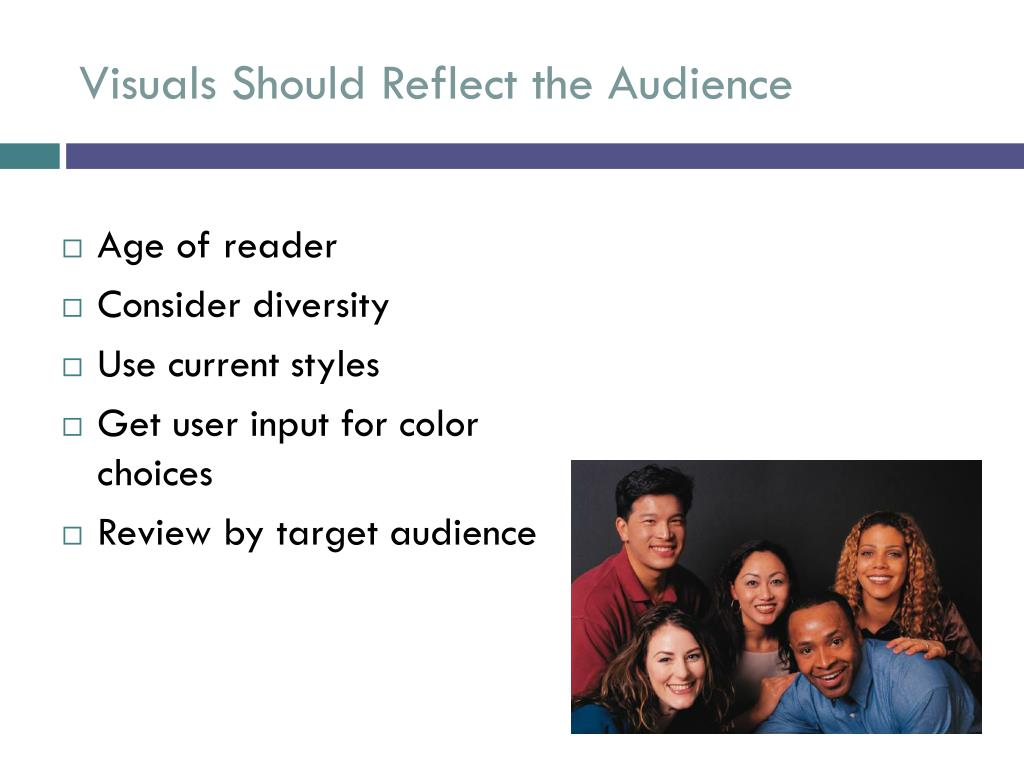 Visuals Should Reflect the Audience
