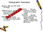 homographs homonyms
