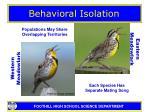 behavioral isolation7