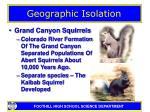 geographic isolation9