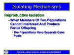 isolating mechanisms4