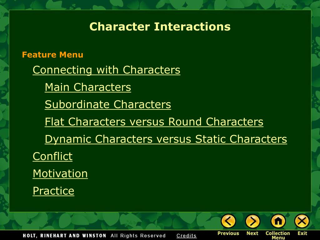 character interactions l.