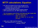 mttf calculations equation