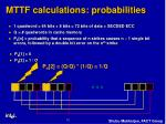 mttf calculations probabilities