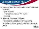 combustible dust nep