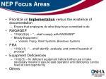 nep focus areas