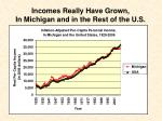 incomes really have grown in michigan and in the rest of the u s