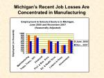 michigan s recent job losses are concentrated in manufacturing