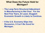 what does the future hold for michigan