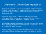 overview of goldengate replication