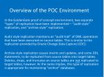 overview of the poc environment