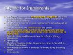city life for immigrants