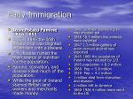 early immigration