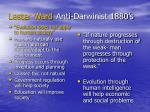 lester ward anti darwinist 1880 s