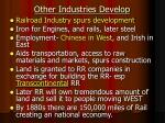 other industries develop