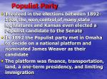 populist party