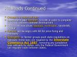 railroads continued