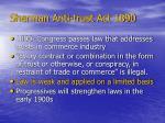 sherman anti trust act 1890