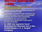 sherman antitrust act 1890
