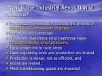 what is the industrial revolution in america