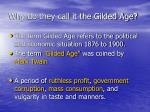 why do they call it the gilded age