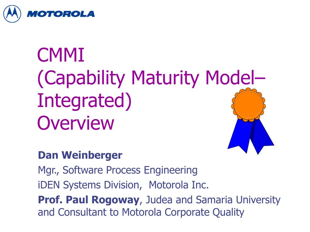 cmmi capability maturity model integrated overview l.