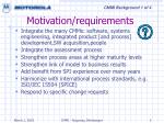 motivation requirements