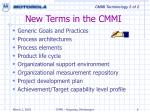 new terms in the cmmi