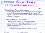 process areas at l4 quantitatively managed