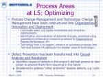 process areas at l5 optimizing