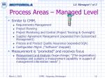 process areas managed level