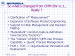 so what s changed from cmm sw v1 1 really