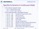 specifics generics in continuous model26