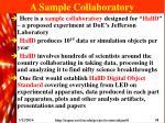 a sample collaboratory