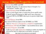 areas object properties covered