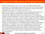 commercial collaboration and training systems i