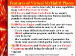 features of virtual myhalld places