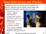 hand held devices and wireless