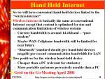 hand held internet