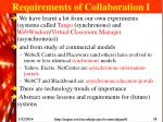 requirements of collaboration i