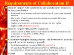 requirements of collaboration ii