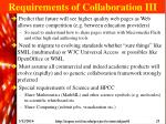 requirements of collaboration iii