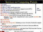 services in computing portals