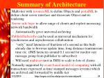 summary of architecture
