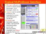 typical myprofessor interface
