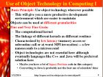 use of object technology in computing i