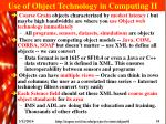 use of object technology in computing ii