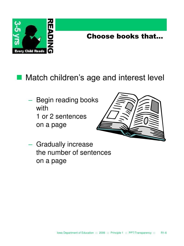 Choose books that...